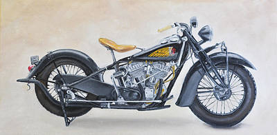 Painting - 1939 Indian Chief by Brad Thomas