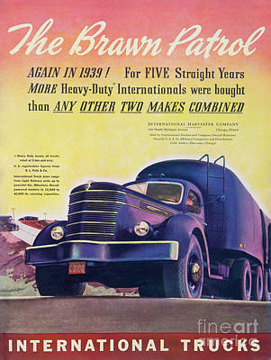 Photograph - 1939 International Truck Ad by Kevin McCarthy