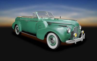 Photograph - 1940 Buick Convertible  -  1940buick4doorconvertible153892 by Frank J Benz