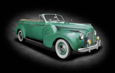 Photograph - 1940 Buick Special Convertible  - 1940buickconvertible4doortexture153892 by Frank J Benz