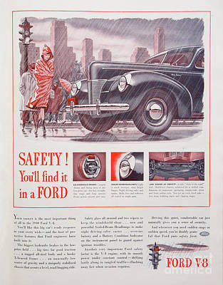 Photograph - 1940 Ford Automobile Ad by Kevin McCarthy