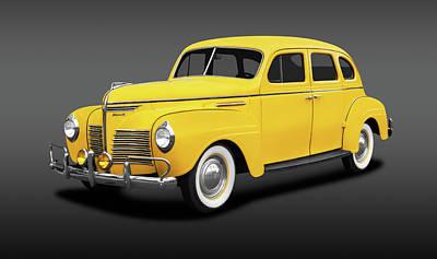 Photograph - 1940 Plymouth 4 Door Sedan  -  1940plymouth4doorsedanfa186158 by Frank J Benz