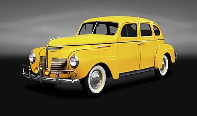 Photograph - 1940 Plymouth 4 Door Sedan  -  1940plymouth4doorsedangray186158 by Frank J Benz