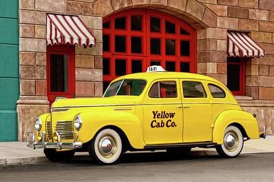 Photograph - 1940 Plymouth 4 Door Sedan Taxi Cab  -  1940plymouth4doorsedantaxicab123619. by Frank J Benz