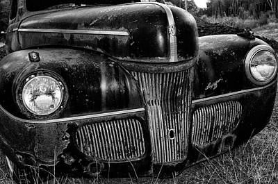 Photograph - 1941 Ford Super Deluxe In Black And White by Bill Cannon