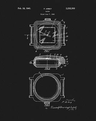 Drawing - 1941 Rolex Watch by Dan Sproul