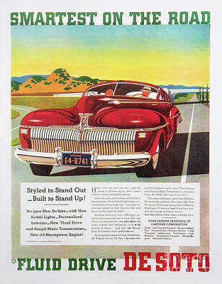 Photograph - 1942 Desoto Auto Advertising by Kevin McCarthy