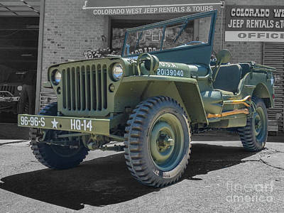 Photograph - 1942 Willys Gpw by Tony Baca