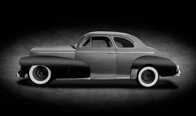 Photograph - 1946 Chevrolet Fleetmaster Coupe  -  1946chevyfleetmastercpeblkwhitext149599 by Frank J Benz