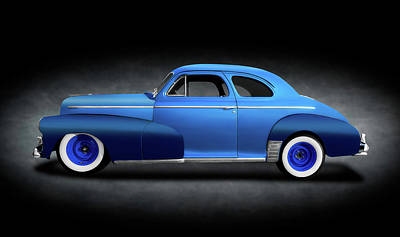 Photograph - 1946 Chevrolet Fleetmaster Coupe  -  1946chevyfleetmastercpespottext149599 by Frank J Benz