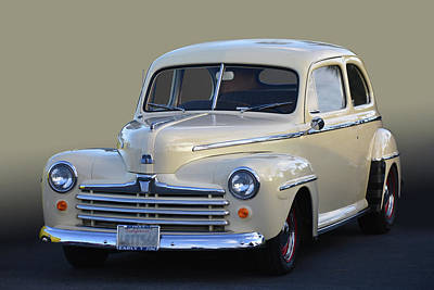 Photograph - 1947 Ford Super Deluxe by Bill Dutting