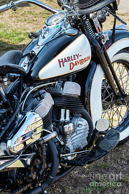 Photograph - 1947 Hd Flathead by Tim Gainey