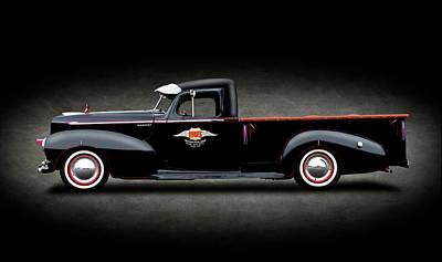 Photograph - 1947 Hudson Big Boy 3/4 Ton Pickup Truck  -  1947hudsonbigboypickupspttext138254 by Frank J Benz