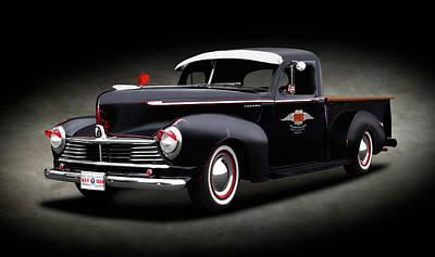 Photograph - 1947 Hudson Big Boy 3/4 Ton Pickup Truck  -  1947hudsonbigboytruckspttext138257 by Frank J Benz