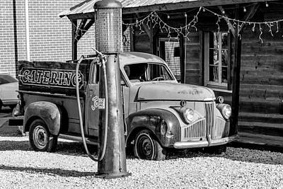 Photograph - 1947 Studebaker M-5 Pickup Truck B/w  by Gene Parks