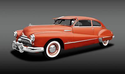 Photograph - 1948 Buick Super 2-door Sedanette  -  1948buicksupersedanettegray196489 by Frank J Benz