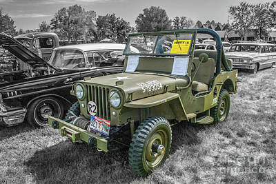 Photograph - 1948 Willys Cj-2a by Tony Baca