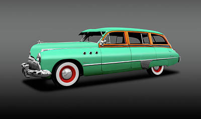 Photograph - 1949 Buick Super Woody Station Wagon  -  1949buicksuperwoodygray149582 by Frank J Benz