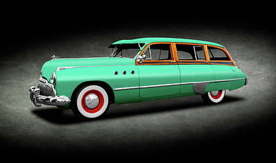 Old Woody Station Wagon Wall Art - Photograph - 1949 Buick Super Woody Station Wagon  -  1949buicksuperwoodysptext149582 by Frank J Benz