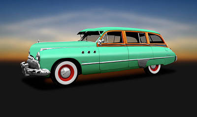 Photograph - 1949 Buick Super Woody Station Wagon  -  1949buicksuperwoodystationwagon149582 by Frank J Benz