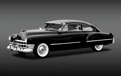 Photograph - 1949 Cadillac Two Door Sedan  -  1949cadillacsedanblkwhi172173 by Frank J Benz