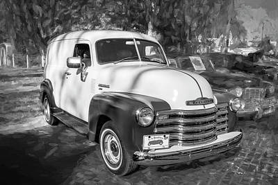 Photograph - 1949 Chevrolet 3100 Series Panel Truck A101 by Rich Franco