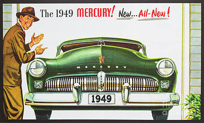 Photograph - 1949 Mercury Auto Advertising by Kevin McCarthy