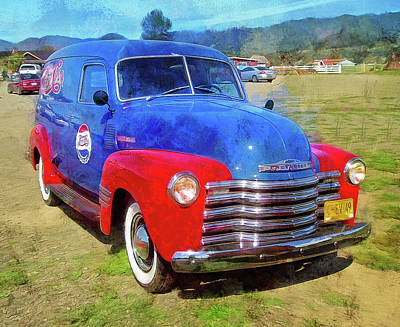 Photograph - 1949 Pepsi Logo Chevy Panel Truck   by Thom Zehrfeld