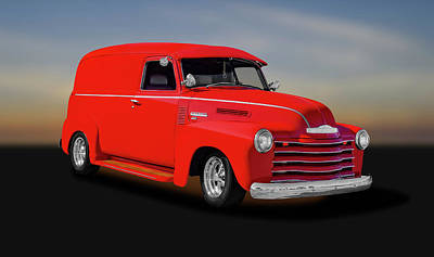 Photograph - 1950 Chevrolet 3100 Panel Delivery Truck  -  1950chevrolet3100paneltruck185995 by Frank J Benz