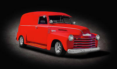 Photograph - 1950 Chevrolet 3100 Panel Delivery Truck  -  1950chevypaneldeliveryspttext185985 by Frank J Benz