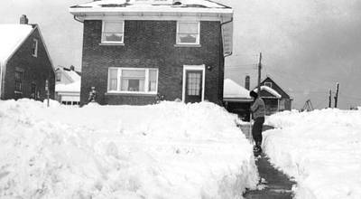 Photograph - 1950 Snow In Cleveland by Barbara Keith