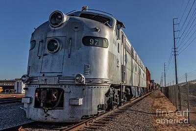 Photograph - 1950s Silver Locomotive Chandler Arizona by Edward Fielding