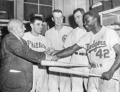 Photograph - 1952 All-star Game American League V by The Stanley Weston Archive