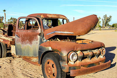 Photograph - 1952 Ford F5 Truck by Gene Parks