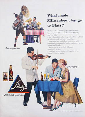 Photograph - 1953 Blatz Beer Ad by Kevin McCarthy