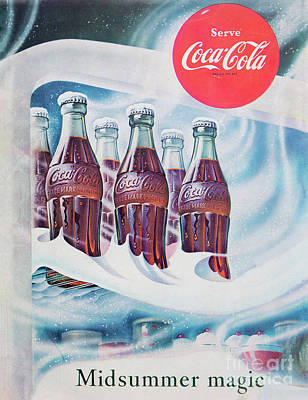 Photograph - 1953 Coca Cola Ad by Kevin McCarthy