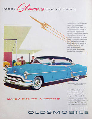 Photograph - 1953 Oldsmobile Ad by Kevin McCarthy