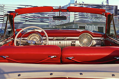 Rear View Photograph - 1953 Oldsmobile Rocket 98 by Car Culture
