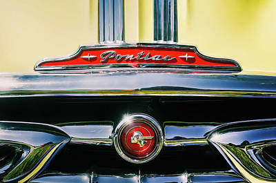 Christmas Christopher And Amanda Elwell Rights Managed Images - 1953 Pontiac Grille Royalty-Free Image by Scott Norris