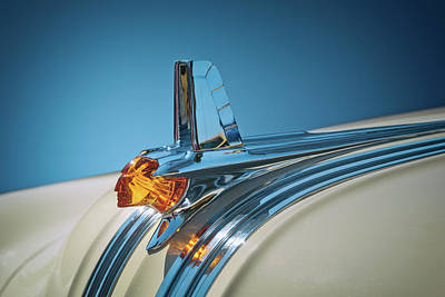Christmas Christopher And Amanda Elwell Rights Managed Images - 1953 Pontiac Hood Ornament Royalty-Free Image by Scott Norris