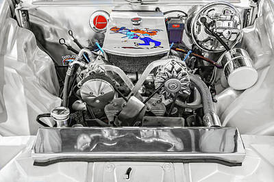 Photograph - 1953 Studebaker Commander Engine Compartment  -  1953studebakerenginebay196418 by Frank J Benz