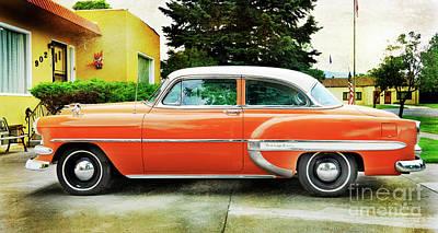 Photograph - 1954 Belair Chevrolet 2 by Craig J Satterlee