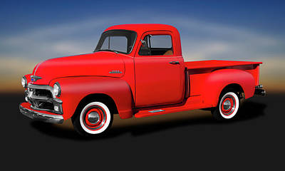 Photograph - 1954 Chevrolet 3100 Series Pickup Truck  -  1954chevrolet3100pickup173490 by Frank J Benz