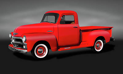 Photograph - 1954 Chevrolet 3100 Series Pickup Truck  -  1954chevrolet3100seriespickupgray173490 by Frank J Benz