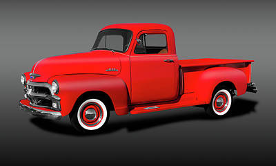 Photograph - 1954 Chevrolet 3100 Series Pickup Truck  -  1954chevroletseries3100truckfine173490 by Frank J Benz