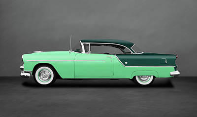 Photograph - 1954 Oldsmobile Super 88 Holiday Hardtop  -  1954olds88hdtpdblgray186151 by Frank J Benz