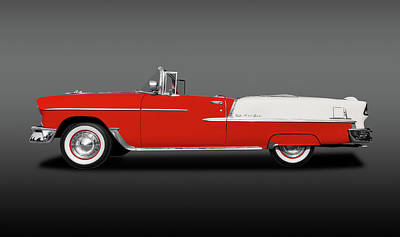 Photograph - 1955 Chevrolet Bel Air Convertible  -  1955chevroletbelairconvertfine140553 by Frank J Benz