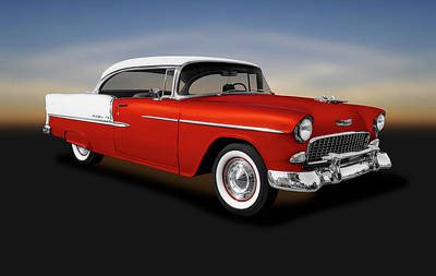 Photograph - 1955 Chevrolet Bel Air Sport Coupe  -  1955chevroletbelairsportcoupe153611 by Frank J Benz