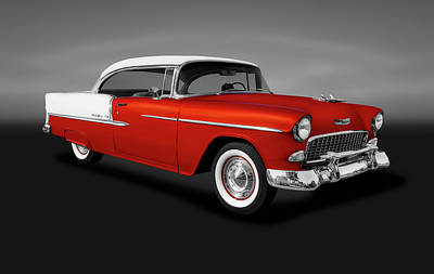 Photograph - 1955 Chevrolet Bel Air Sport Coupe  -  1955chevybelairsptcpegray153611 by Frank J Benz