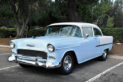 Photograph - 1955 Chevrolet Post by Bill Dutting